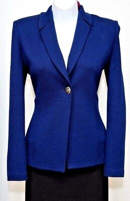 ST.JOHN Collection by Marie Gray Womens Knit Navy Blue Jacket Sz 4