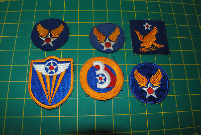 WWII ORIGINAL US Army Airforce USAAF Patches lot of 6 12-056