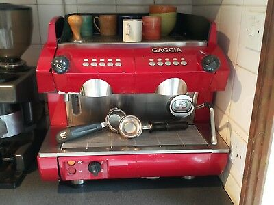 Gaggia GD Compact 2 group coffee machine with heated top - RED