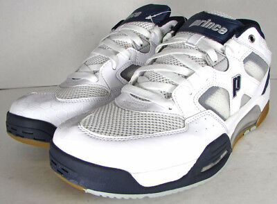 Prince Mens NFS Attack Squash Sneaker Shoes, White/Navy/Silver, US 6.5
