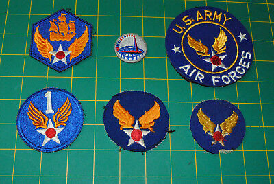 WWII ORIGINAL US Army Airforce USAAF Patches lot of 6 12-057