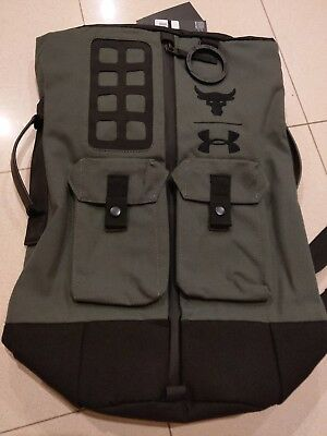 a557c51a3c83 UA X UNDER Armour Project The Rock DJ 60 Green Duffel Bag Backpack ...