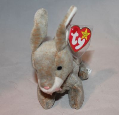Nibbly The Brown Rabbit Ty Beanie baby ‑ Retired