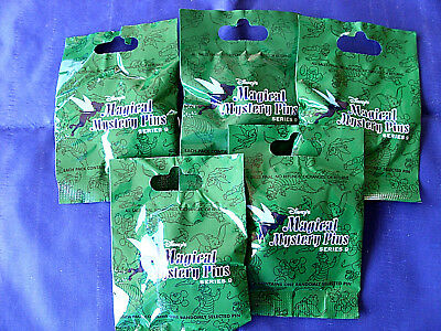 Disney * MAGICAL MYSTERY PINS - SERIES #9 * 5 PACKS * NEW Mystery Pack Pins