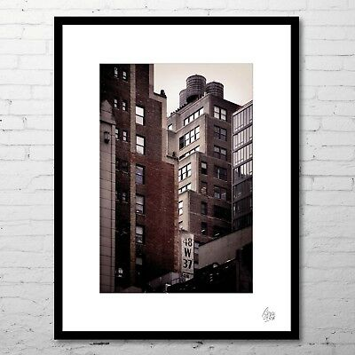 "Photographie d'art (+cadre) ""MIDTOWN"" (Paysage USA NYC Ville New-York City)"