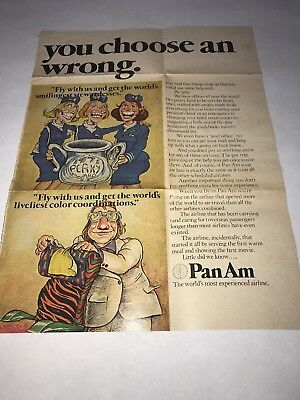 Pan Am Airlines Magazine Ad VINTAGE RARE