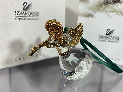 Swarovski Crystal 1999 Annual Edition Angel Christmas Ornament 235 896 MIB W/COA