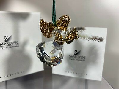 Swarovski Crystal 1998 Annual Edition Angel Christmas Ornament 219 873 MIB W/COA