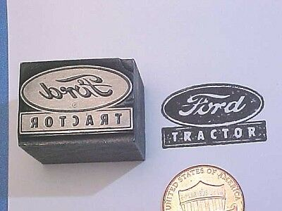 FORD TRACTOR FORDSON! Logo Farm Equipment OLD! Est.1917 Letterpress Printers Cut