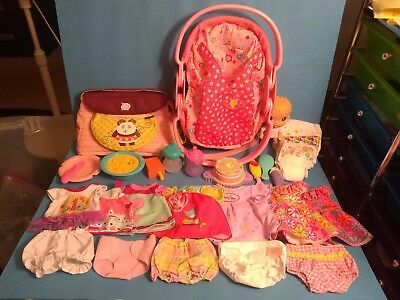 28-piece Baby Alive accessories and clothes