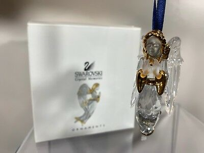Swarovski Crystal 2000 Annual Edition Angel Christmas Ornament 243 453 MIB W/COA