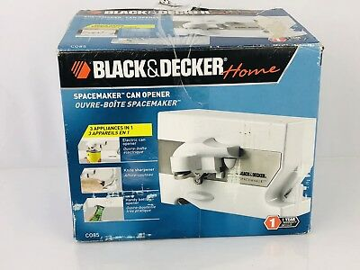 Black & Decker CO85 Spacemaker Under The Counter 3 In 1 Can Opener, White