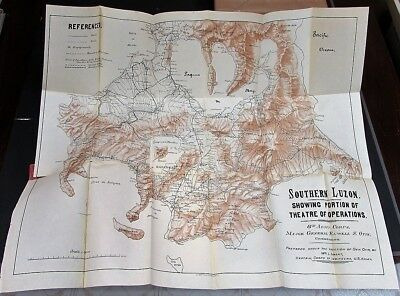 PHILIPPINES - 5 scarce U.S. military maps Luzon Panay Manila Batangas from 1900