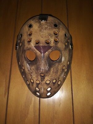 Hand painted Friday The 13th Jason Voorhees Mask