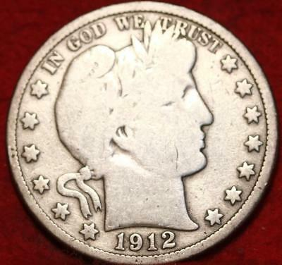 1912 Philadelphia Mint Silver Barber Half Dollar