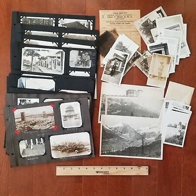 1919 Travel Photo Album Pages – Colorado, Yellowstone – 150 photos plus extras