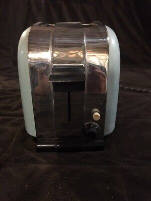 Rare Vintage Morphy-Richards Art Deco Toaster Light Blue Retro Made in England