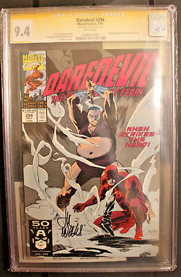 DAREDEVIL - CGC SS 9.4 Signed by Lee Weeks - KINGPIN and The  HAND