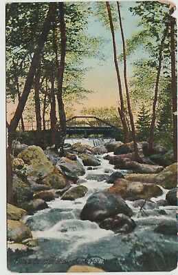 Connecticut Conn New London Falls & Cascade Above The Old Mill Vintage Postcard