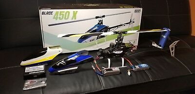 Blade 450X Pro BNF Upgraded Brushless FBL RC Helicopter with 2 lipo Mini-KBar