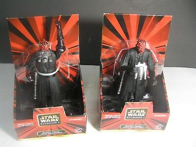 "(2) Star Wars Poseable Darth Maul by Applause 7"" Tall  (3 & Over) NEW"