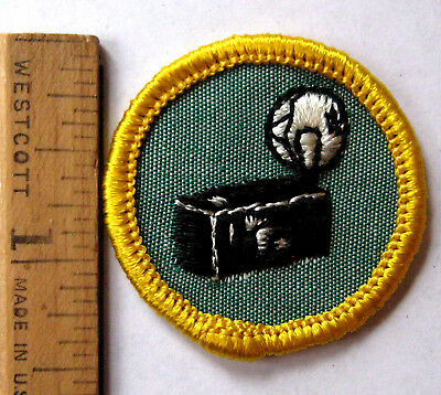 Rare 1963-70 Girl Scout Cadette PHOTOGRAPHY BADGE Flash Camera Photo Patch NEW