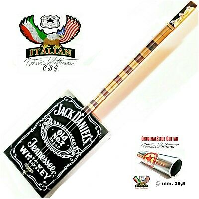 Cigar Box Guitar Jack Daniel's ,3 corde, pick-up piezo, volume, tastiera slide.