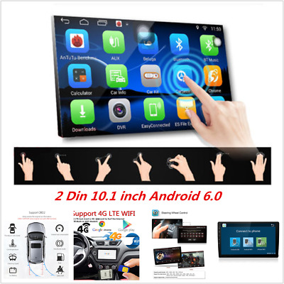 "Car GPS Navi 10.1"" Quad Core Android 6.0 Double 2Din WiFi 4G Radio MP3 Player"