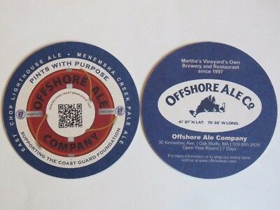 Cool Beer Pub Coaster: Offshore Ale Company ~ Pints With Purpose ~ MASSACHUSETTS