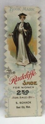 1903 Advertising Calendar Bookmark Radciffe Shoe For Women Reed City Mich 5118F