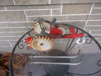 Vintage Thompson Cast Iron Tractor Walking Traveling Lawn Sprinkler
