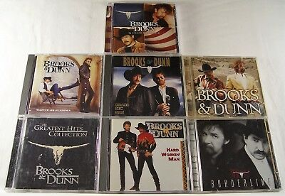 Lot Of 7 BROOKS & DUNN CD's - Strips, See Her, New Man, Hits, Borderline, Waitin