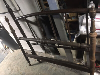 "ORNATE IRON BED FRAME HEADBOARD set  48"" wide  an old farm house  find"