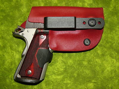 Look!!! Super Nice Left Iwb Blood Red Kydex Holster Hand Made Fitted