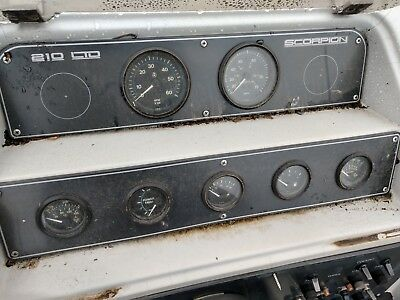 Gauge Instrument Cluster From A Chris Craft Scorpion 210 Ltd Parting Out Boat