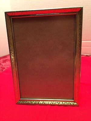 Vintage 5x7 Gold Metal Etched Picture Frame