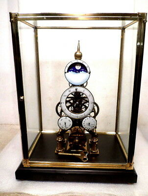 "Vienna Moon Dial Chain Fusee Skeleton Clock 17 1/4"" High--wonderful gift"