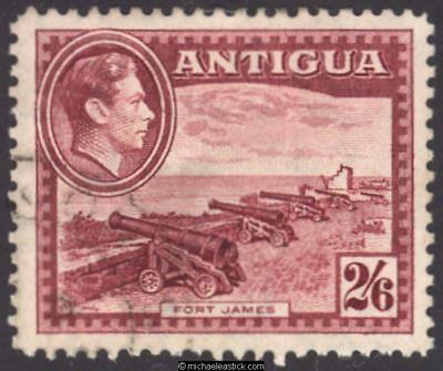 1938 Antigua 2s 6d Brown-Purple, SG 106 used
