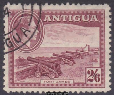 1938 Antigua 2s6d Brown-Purple, SG 106, used