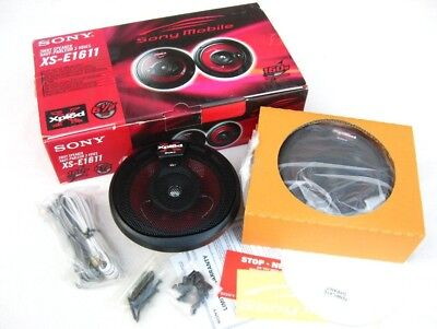 "Sony XPLOD 6-1/2"" Inch 160W XS-E1611 Front/Rear Automotive Car 6.5"" Speakers"