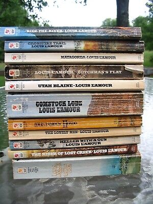 Lot of 11 Vintage Louis L'AMOUR  Paperbacks Nice reading Condition Best Sellers