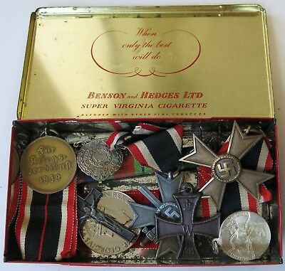 Group of World War II Medals & Commemorative Australian in a Vintage Tin