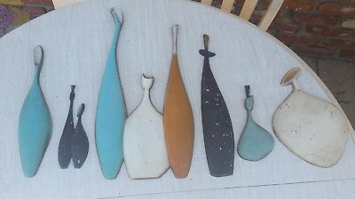 Mid Century Modern Sexton Metal Wall Art Plaques 1950s 1960s Marked