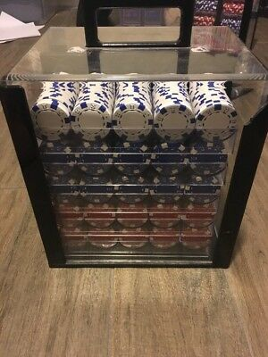 1000 Piece Set Of Poker Chips In Heavy Plastic Carrier