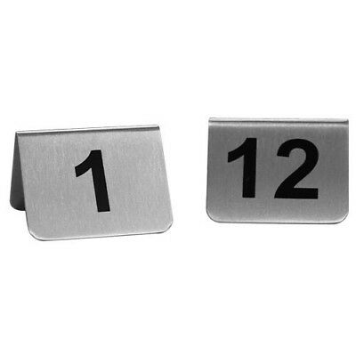 Stainless Steel Table Numbers 1-12 brand new