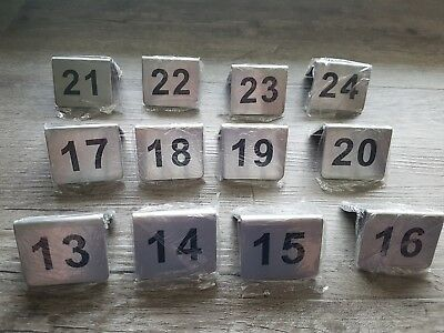 Stainless Steel Table Numbers 13 - 24 Brand New Cafe Restaurant