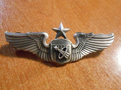 Quality Metal 1980s Replica United States Air Force Astronaut Lapel Wings #1016