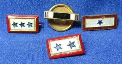 WWII POW Prisoner Of War Brass Ribbon, 1, 2 & 3 Sons In Service Pins Lot Of 4