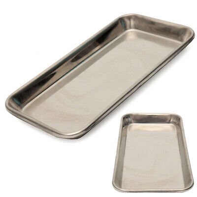 Stainless Steel Medical Surgical Tray Dental Dish Lab 22x12x2cm Instrument Tool