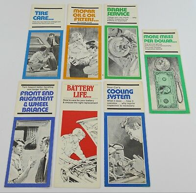 Lot of 7 Vintage 1970s Mopar Fold Out Brochure Pamphlet Dealer Sales Papers